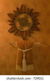 Wall Hanging, Wallpaper, Handtowel  and Towel Rack