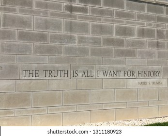 Wall with Harry Truman quote