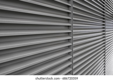 Wall with horizontal lines in perspective.