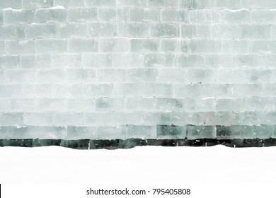 wall of ice bricks, background