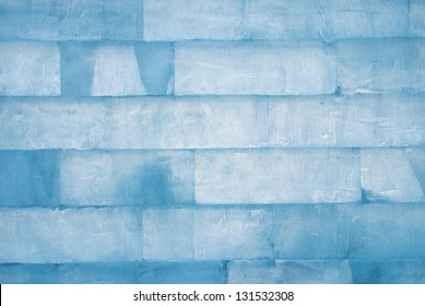 wall of ice cubes as texture or background