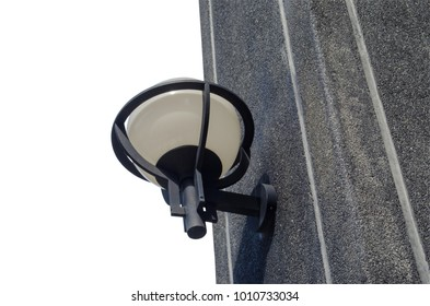 Wall lamp cement terrazzo to increase light and decorate isolated on white background with clipping path.