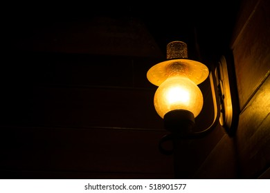 Wall Lamp in the  dark spa  room