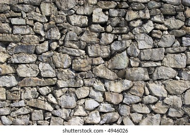 the wall of large stones