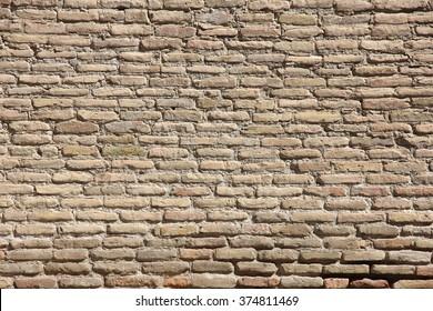 wall of light bricks, texture, Uzbekistan