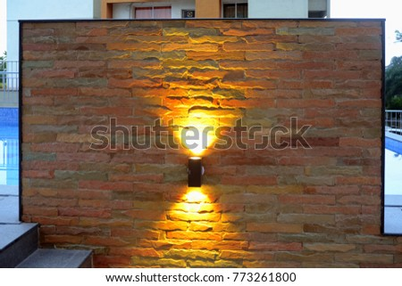 Wall lighting effects Large Indoor Water Wall Lighting Effects Shutterstock Wall Lighting Effects Stock Photo edit Now 773261800 Shutterstock