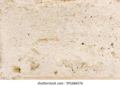 Wall of limestone beige