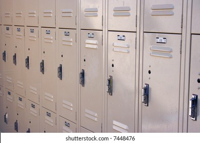 A wall of lockers.