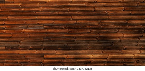 Wall made of brown wooden boards