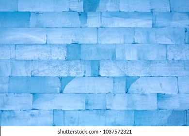 Wall made of ice blocks