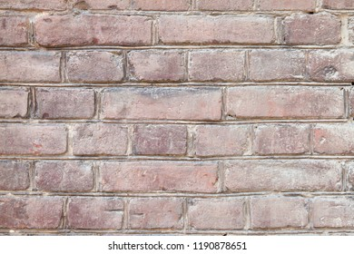 Wall made of old red brick