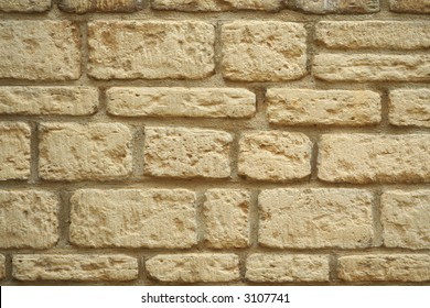 A wall made from traditional English Cotswold stone