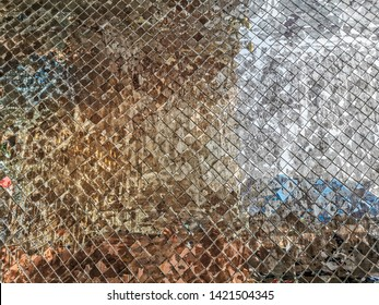 Wall with mirror texture Background