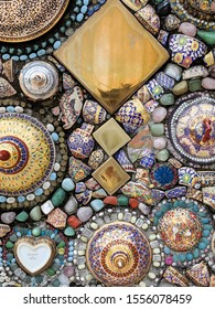 Wall mosaic for decoration and texture
