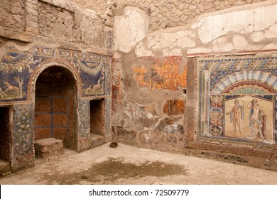Wall Mosaic of Neptune and Amphitrite from Herculaneum