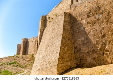 Wall of Naryn-Kala fortress. Republic of Dagestan, Russia