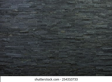 Wall of natural decorative stone