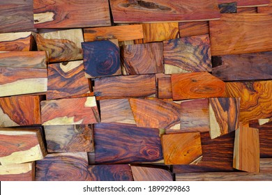 Wall natural rosewood timber background
