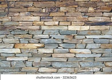 wall of natural stones