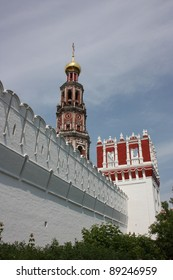 Wall. Novodevichy Convent in Moscow. Russia.