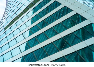 Wall of office building - architectural background