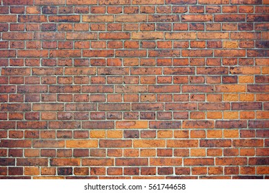 wall of the old brick red color