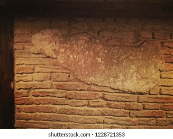 Wall in old build in public area. Abstract background for designer.