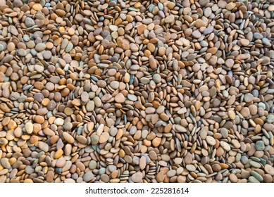 wall pattern of gravel  stones background