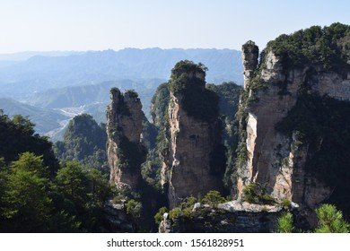 Wall of pillar shaped mountains also known as Hallelujah mountains