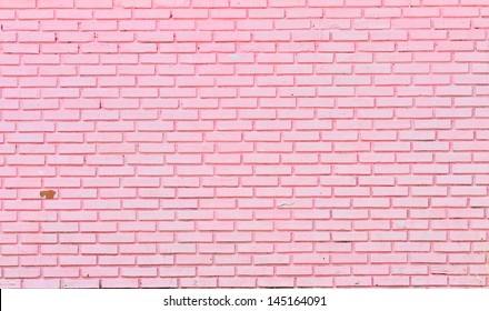 wall of pink bricks