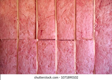Wall of pink insulation