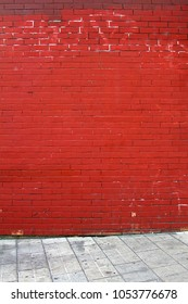 Wall of red brick. Abstract background.