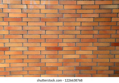A wall of red bricks. Background - Red brick wall.