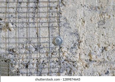 Wall reinforcement repair. Concrete base repair. Construct architecture groundwork