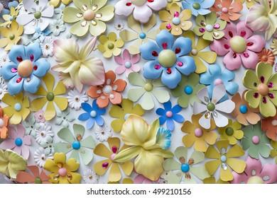 Wall sculpture flowers