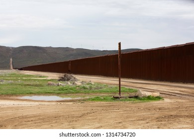 Wall  seperating the United States from Mexico in Southern California
