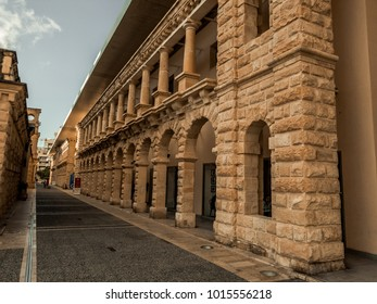 Wall of the shoping centre in Sliema, Malta.
