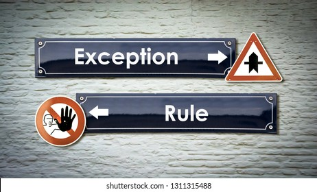 Wall Sign Exception vs Rule