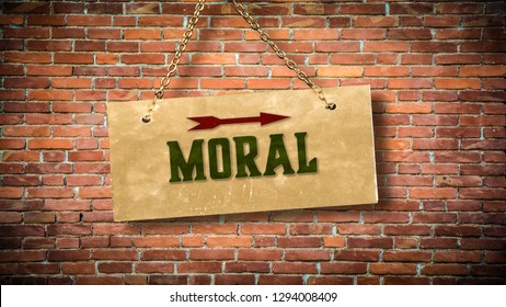 Wall Sign to Moral