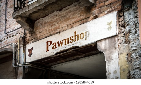 Wall Sign Pawnshop