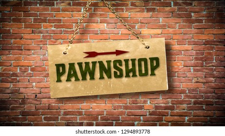 Wall Sign to Pawnshop