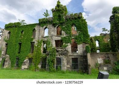The wall of Smallpox Hospital- Roosevelt Island, New York City,