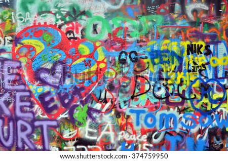 a wall sprayed with