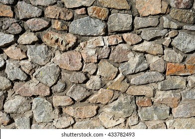 The wall of  stone, Rough masonry, background, texture