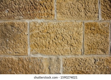 a wall of stones with modern screed, background