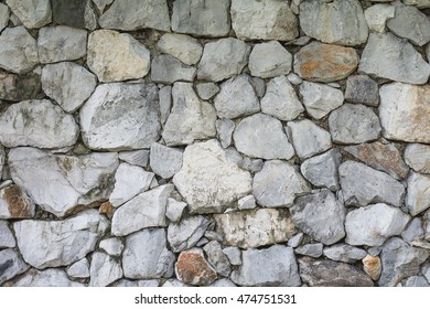 wall of stones as a texture for background