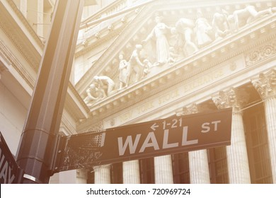 Wall Street New York Stock Exchange is the world's largest stock exchange by market capitalization of its listed companies.