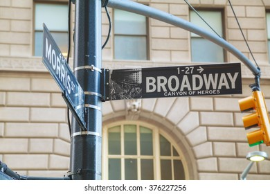 Wall street sign in New York City, USA