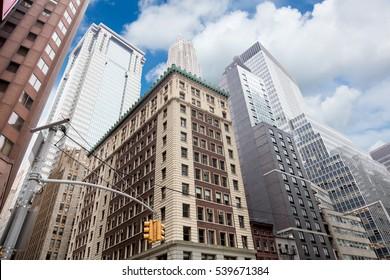 Wall Street Skyscrapers, Manhattan, New York City, USA