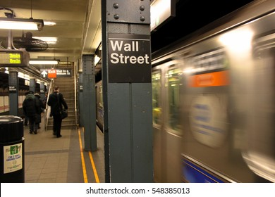 Wall Street Station, United States New York subway.